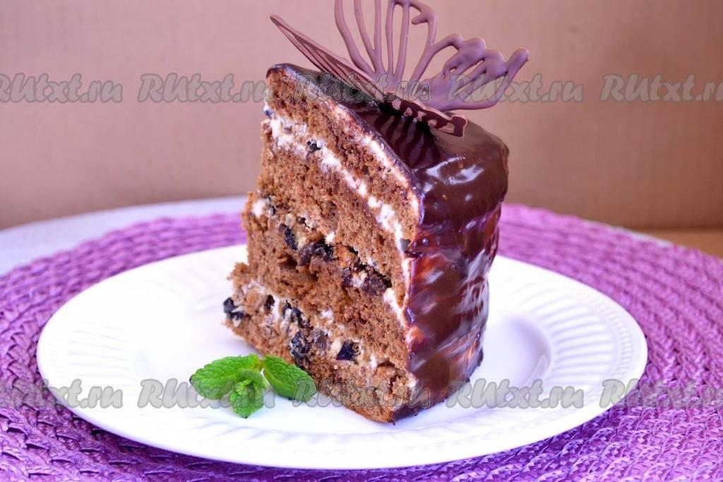 Торт «чернослив в шоколаде» — для любителей одноимённых конфет