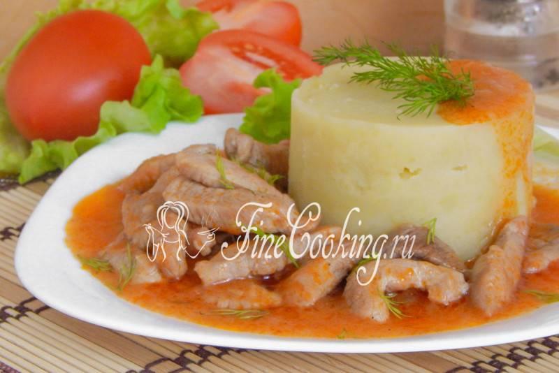 Свинина тушеная с подливкой рецепт с фото