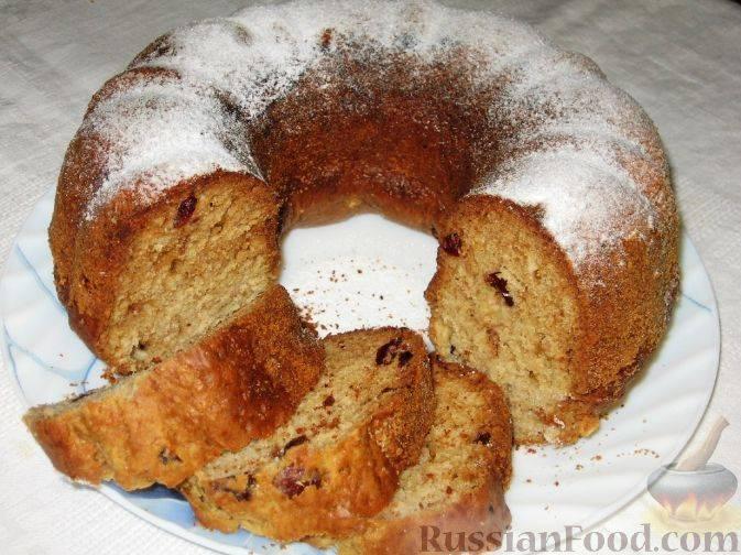 Апельсиновый кекс с сушеной клюквой - рецепт с фотографиями - patee. рецепты