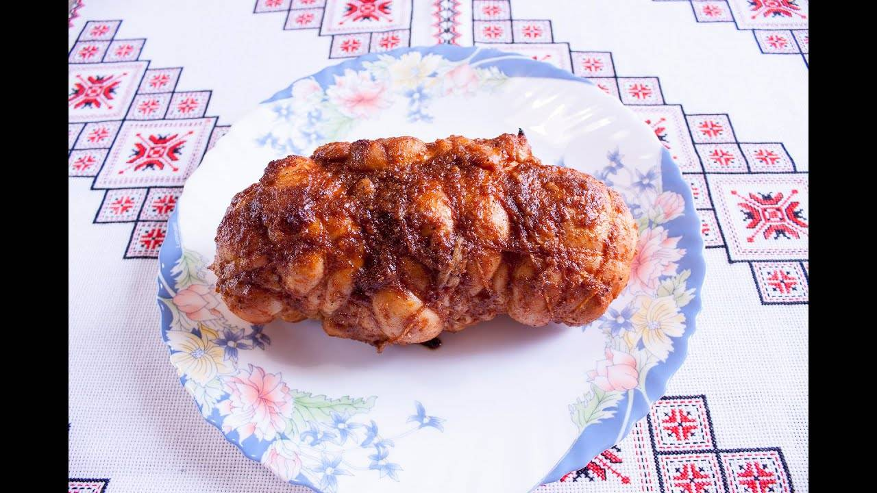 Чесночная пастрома из куриной грудки