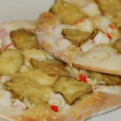 Ленивая пицца из батона в духовке и на сковороде