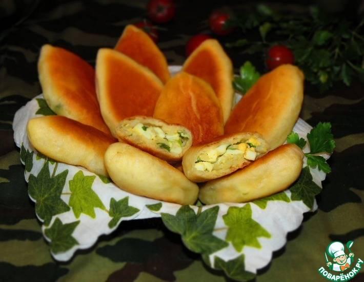 Пирожки-малыши из чудо-теста с луком и яйцом в духовке