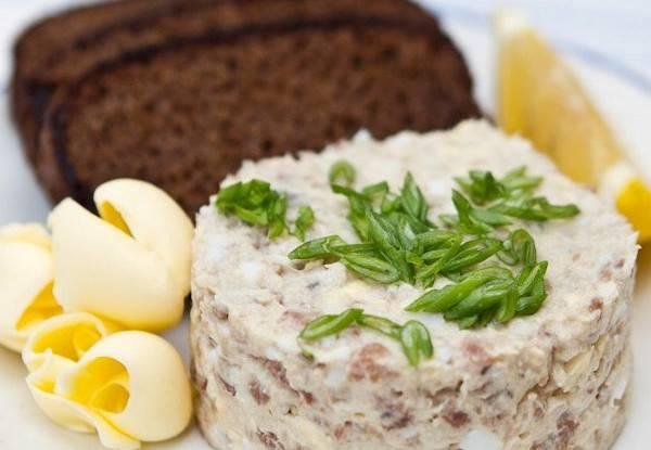Форшмак из скумбрии — классический рецепт. форшмак из солёной скумбрии