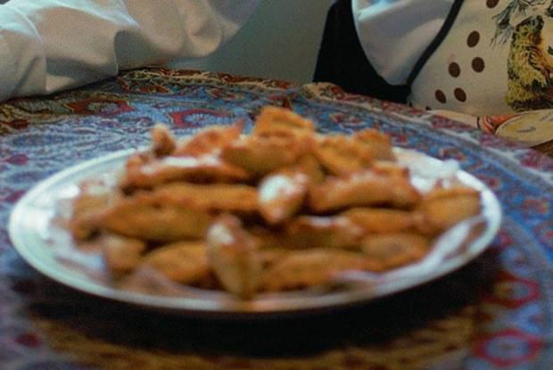 Жареные пирожки с рисом и грибами