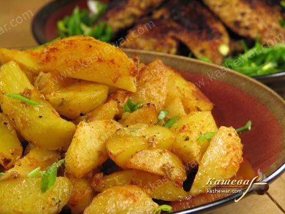 Картофель, запечённый с солью и уксусом