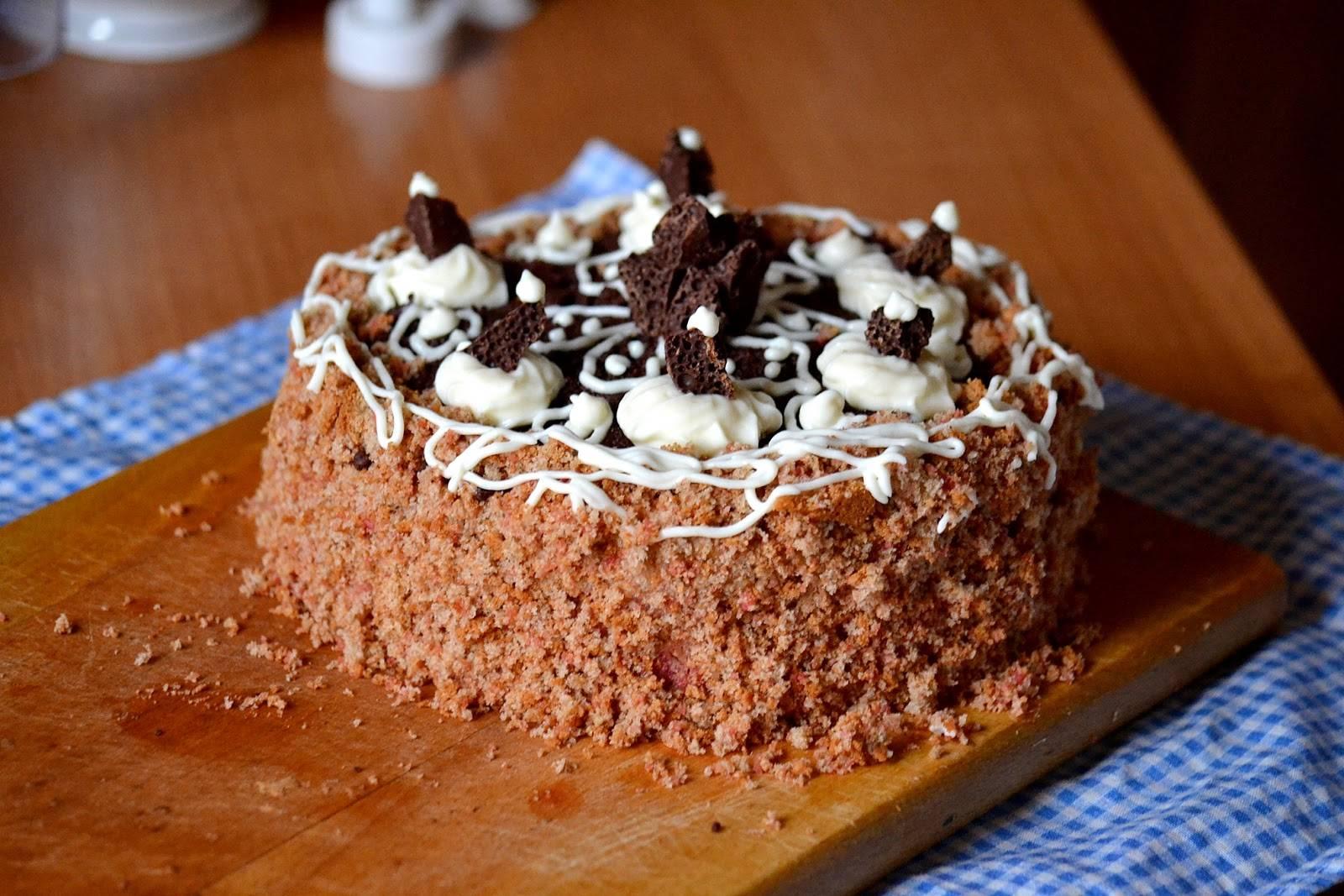 Как приготовить бисквитный торт с заварным кремом по рецепту с фото