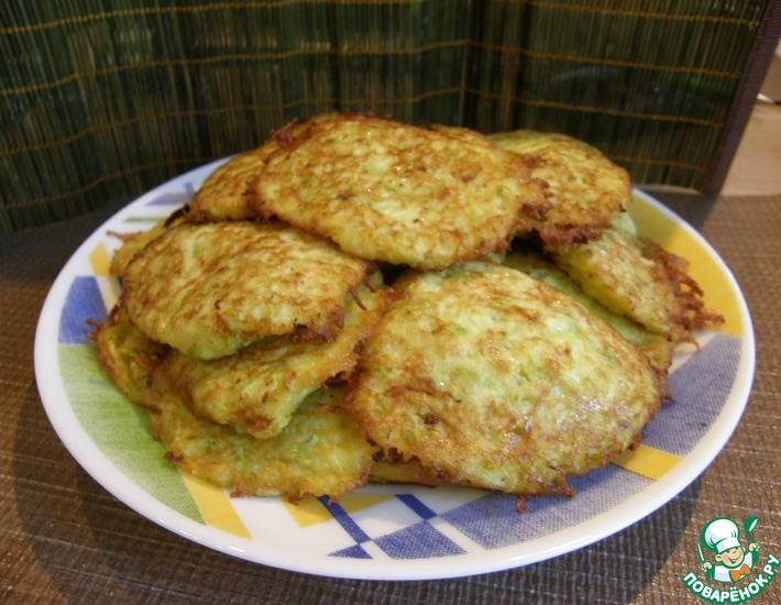 Кабачковые оладьи с сыром рецепт с фото