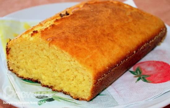 Сдобный хлеб с кукурузной крупой
