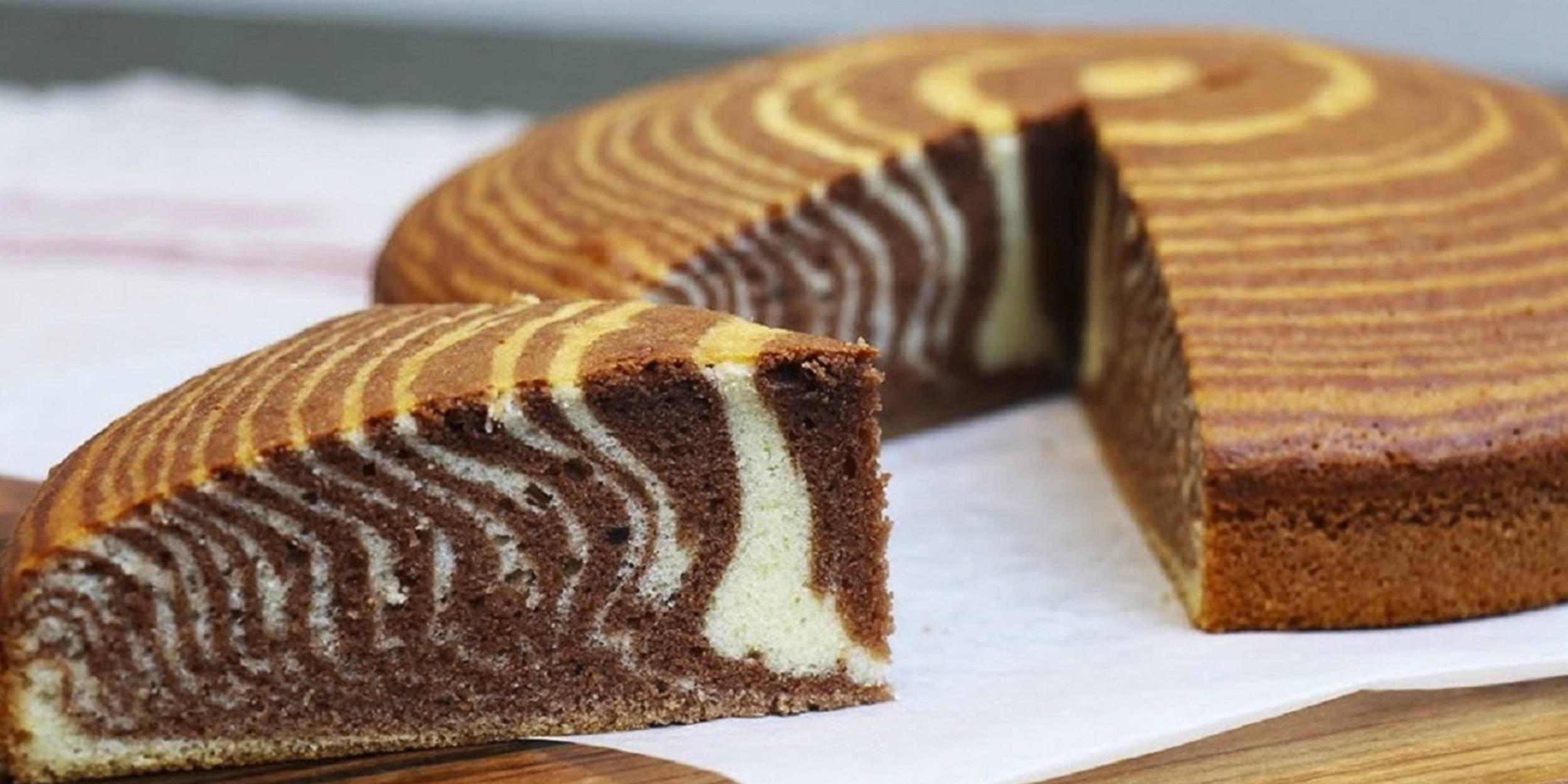 Зебра торт на сметане рецепт с фото
