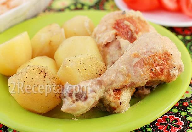 Курица с картошкой, запеченная в мультиварке: лучшие рецепты