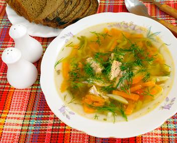 Готовим рыбный суп из горбуши свежей и консервированной