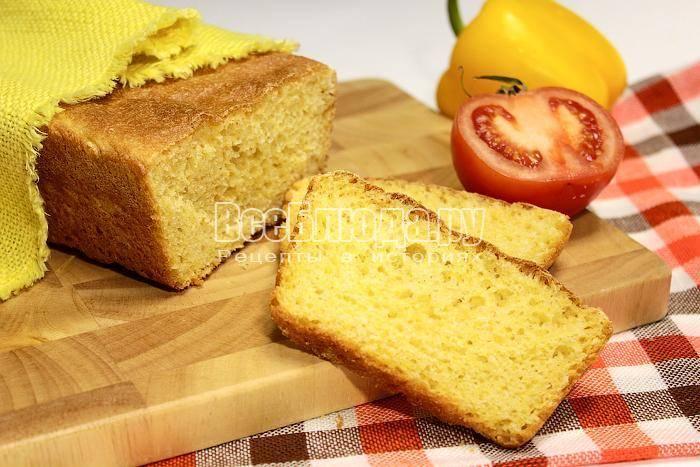 Кукурузный хлеб в духовке без дрожжей