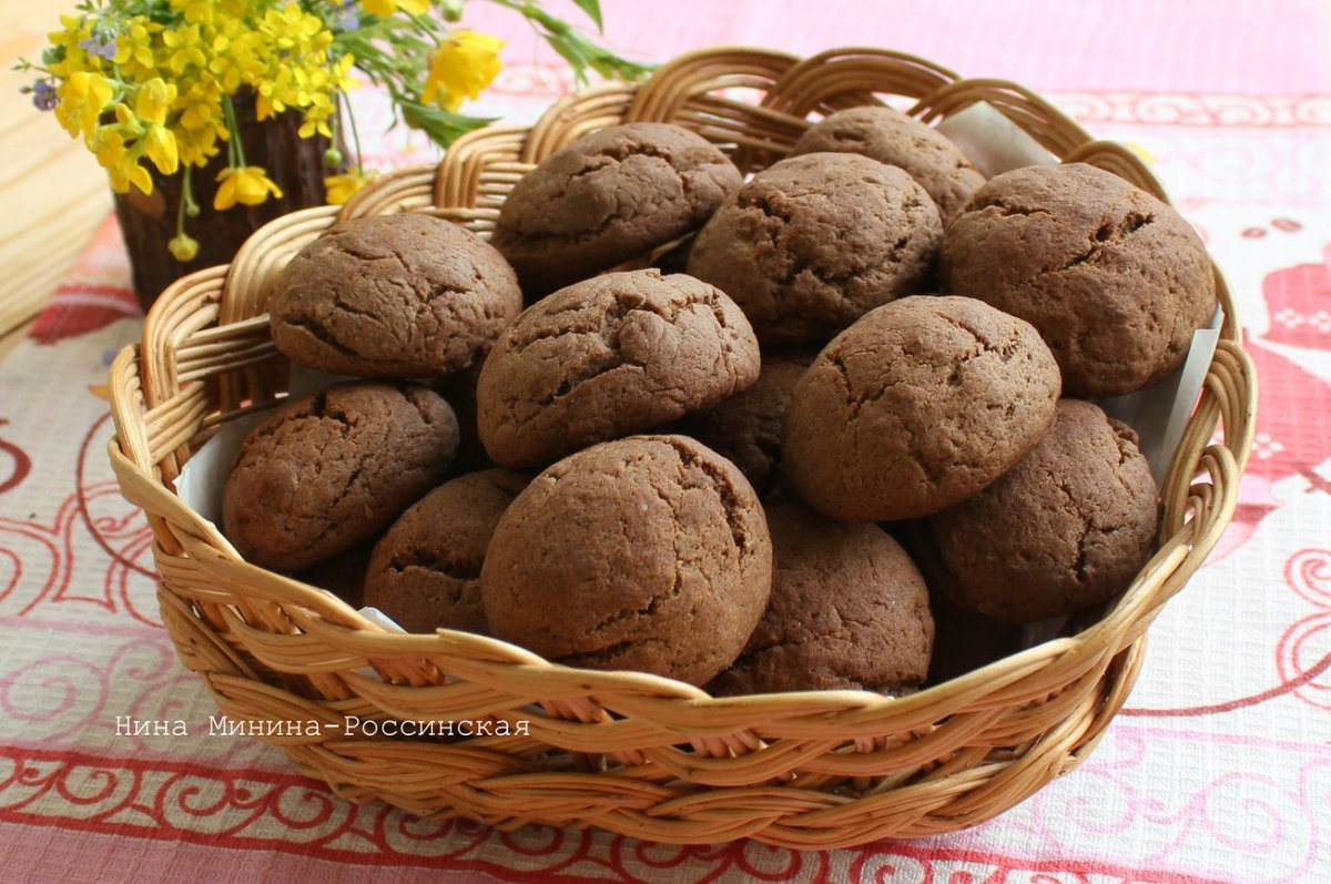 Печенье с черёмуховой мукой