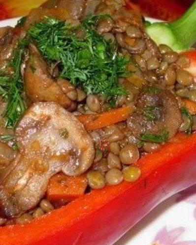 """Рецепт """"чечевица в горшочке запеченная с грибами"""": ингредиенты, способ приготовления, фотографии; вторые блюда - блюда из круп"""
