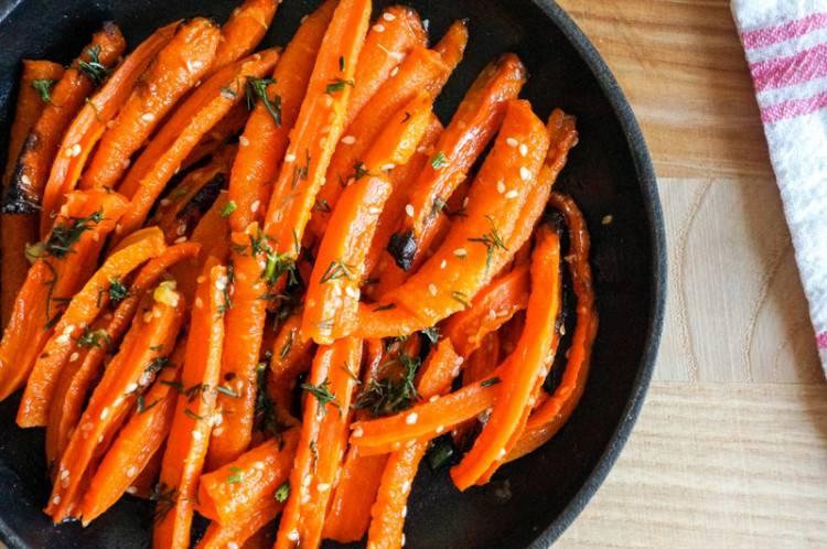 Тушёная морковь