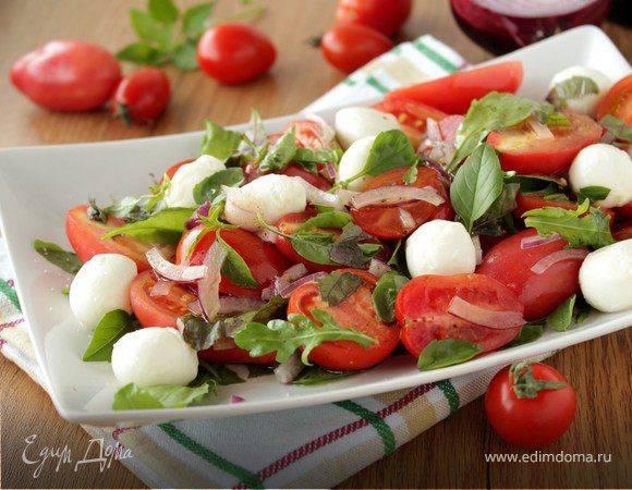 Салат из помидоров черри и моцареллы - пошаговый рецепт с фото |  салаты