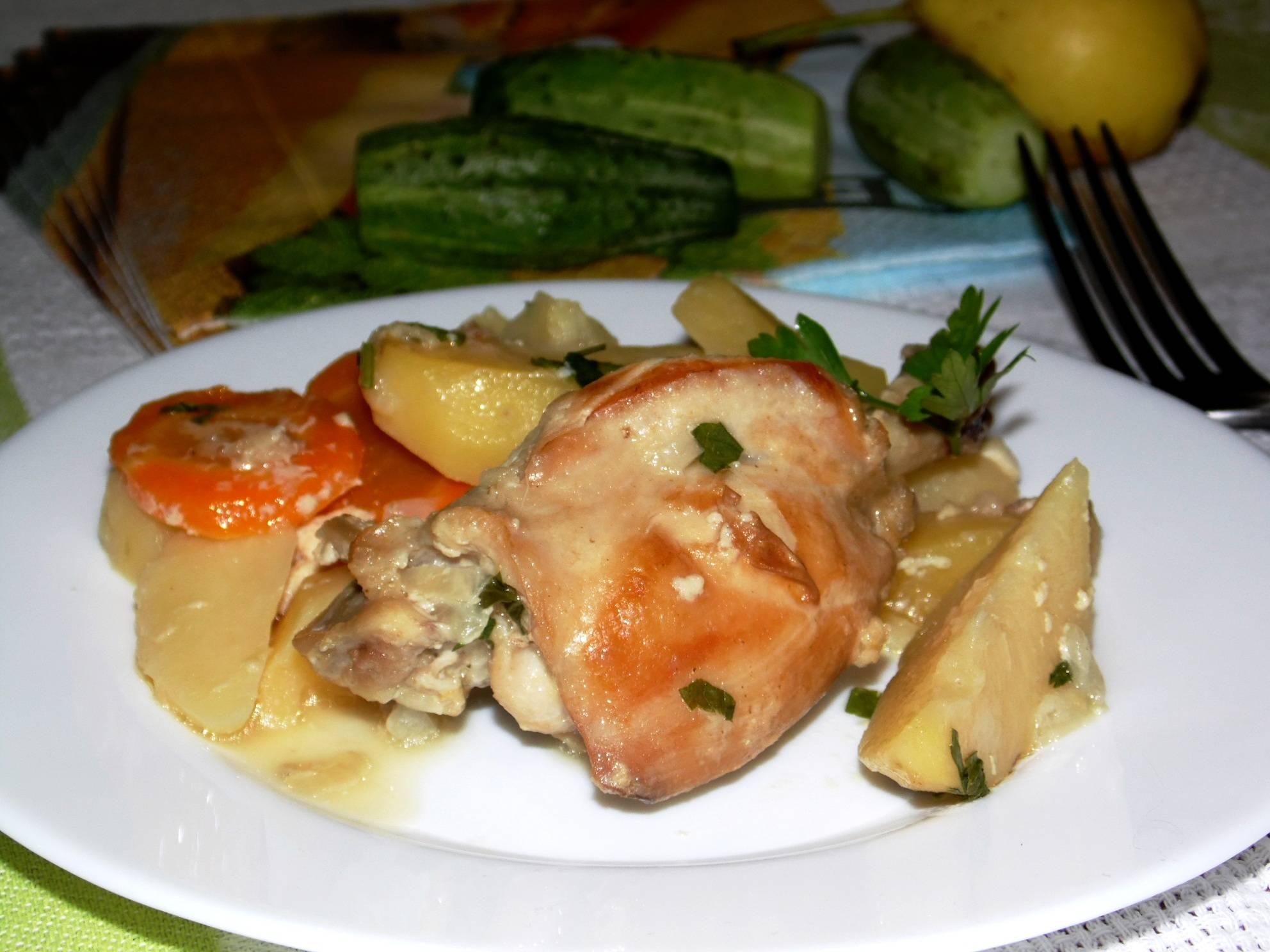 Кролик в мультиварке - рецепт с картошкой, овощами и черносливом. как приготовить тушеного кролика в сметане, в сливках и на пару в мультиварке?