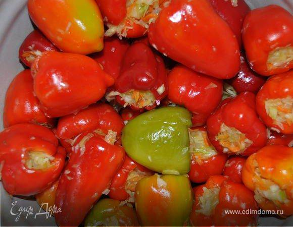 Перец фаршированный капустой на зиму: рецепты приготовления