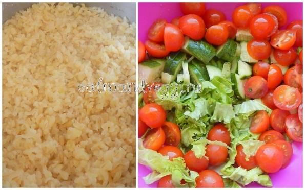 Салат из булгура с зеленью и семечками - вкусно и сытно
