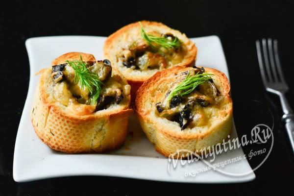 «пеньки» из багета - рецепт приготовления