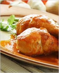 Курица в яичном соусе