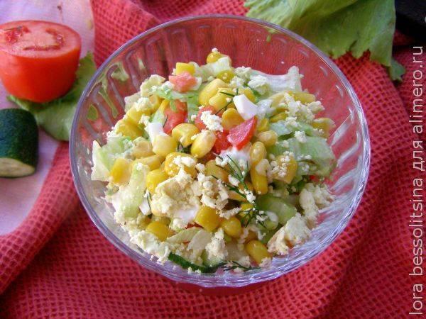 Легчайший салат – простой рецепт за 5 минут