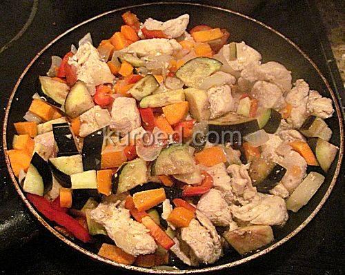 Картофельное пюре с баклажанами