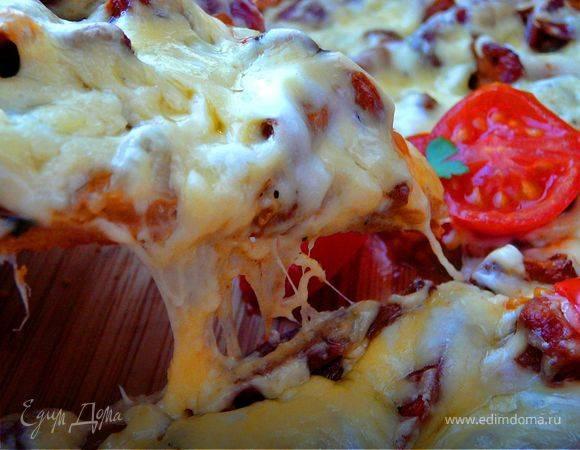 Постная пицца с ржаной мукой и цикорием