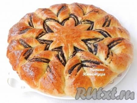 Рассыпчатый пирог со сливой в заливке