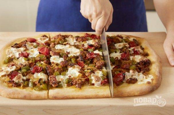 Пицца со свининой рецепт с фото   декупаж ажиотаж