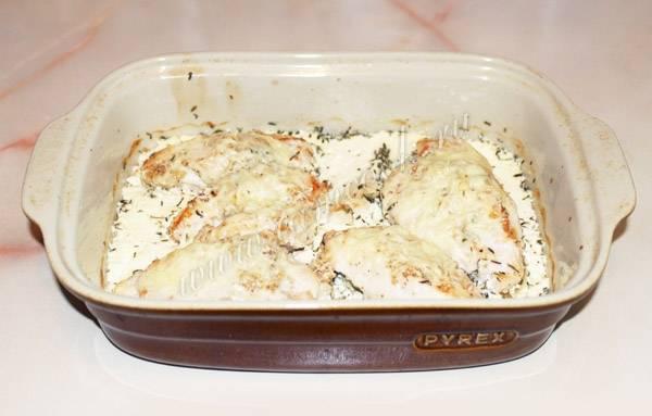 ️куриное филе в сметанном соусе в духовке
