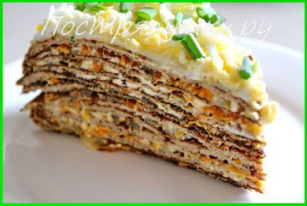 Печеночный торт из свиной печени - 5 пошаговых рецептов с фото просто и вкусно