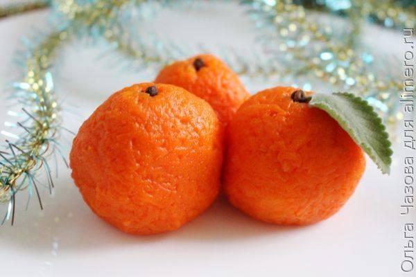 Интересная закуска к Новому году в виде мандаринок