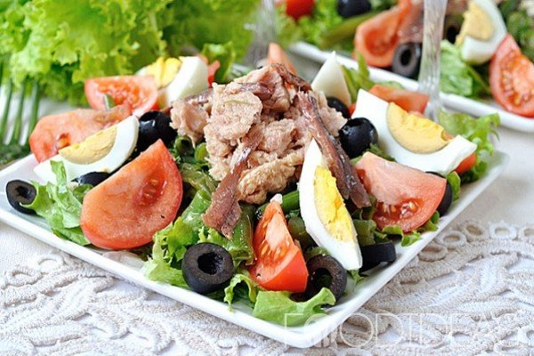 Салат нисуаз - рецепты с фото. как приготовить французский классический салат низуаз с тунцом и заправку