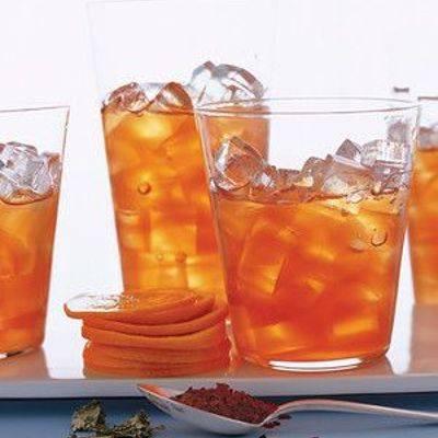 Холодный чай с апельсином