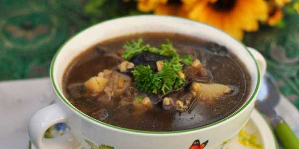 Грибной суп из белых сушеных грибов