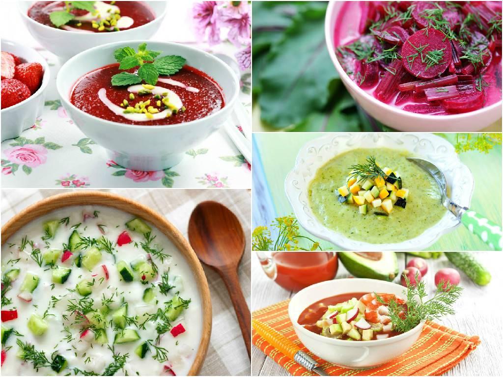 Холодный огуречный крем-суп с творогом