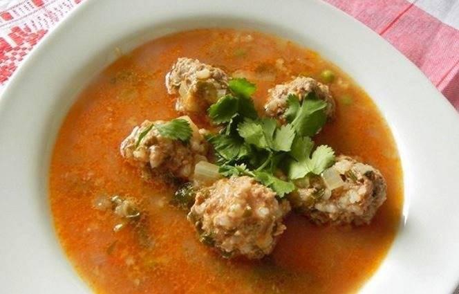 Суп с фрикадельками из свинины - 8 пошаговых фото в рецепте