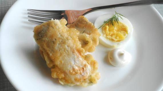 Филе трески в духовке в сырном кляре