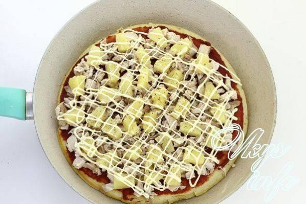 Рецепт быстрой пиццы на сковороде