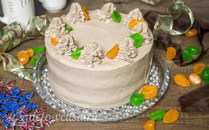 Бисквитный торт с апельсиново-мандариновой прослойкой