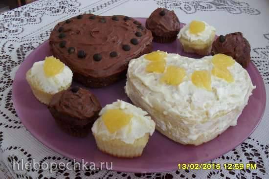 """Пирожные """"с днем святого валентина"""""""