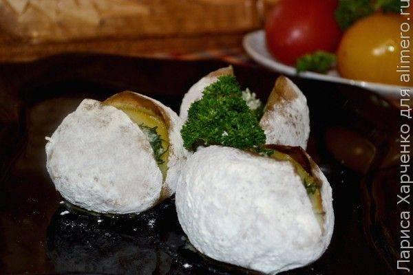 Картошка, запеченная в муке