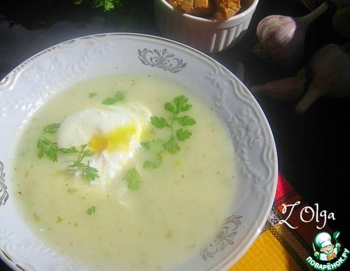 Пряный чесночно-сливочный суп-пюре