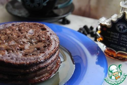Кулинария рецепт кулинарный веганские постные черничные оладьи продукты пищевые