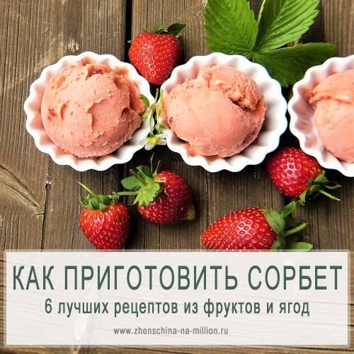 Сорбет в домашних условиях - рецепты клубничного, лимонного, малинового, вишневого и арбузного десерта