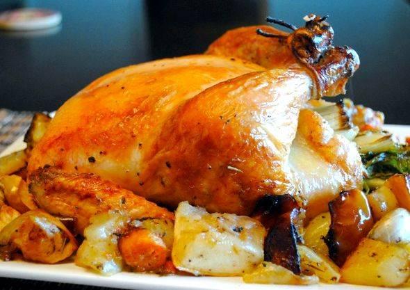 Курица в духовке с майонезом и чесноком рецепт с фото
