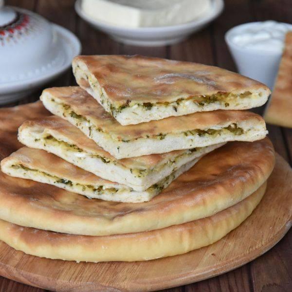 Осетинские пироги с сыром и зеленью – тот необычный вкус! рецепты осетинских пирогов с сыром и зеленью из разного теста