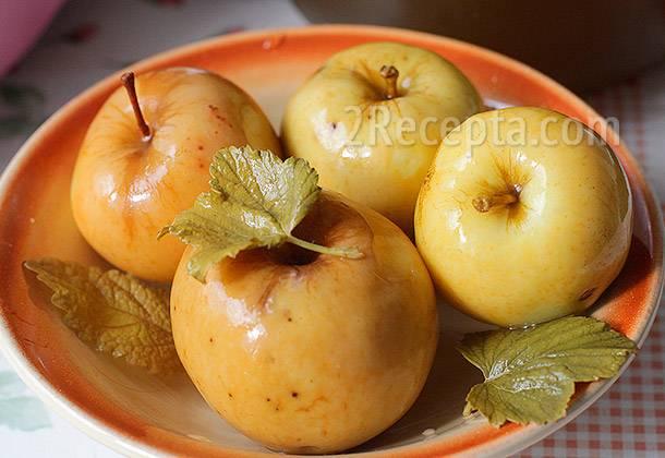 Моченые яблоки по старинному рецепту.