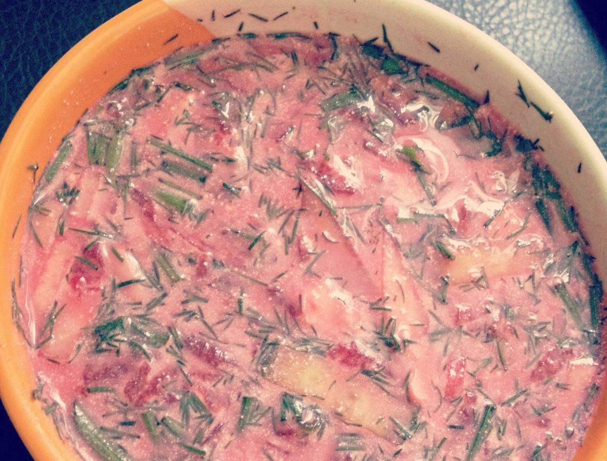 Холодный эстонский суп